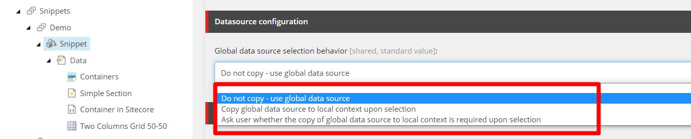 DataSource Behavior