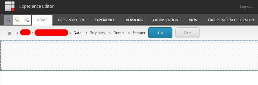 Empty Snippet Exp Editor