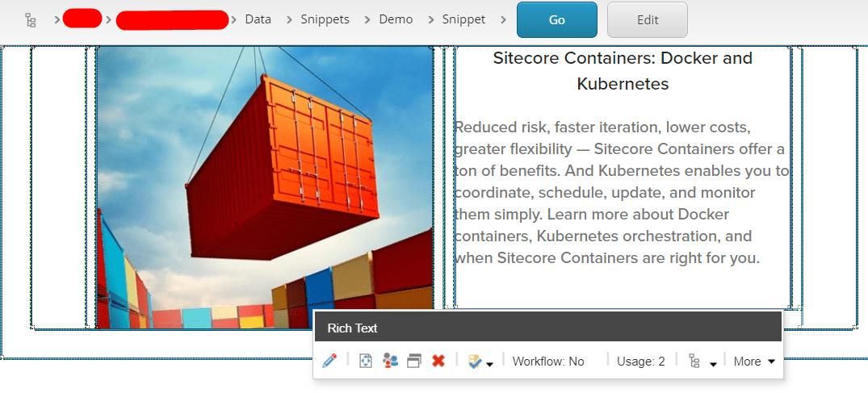 Sitecore Containers