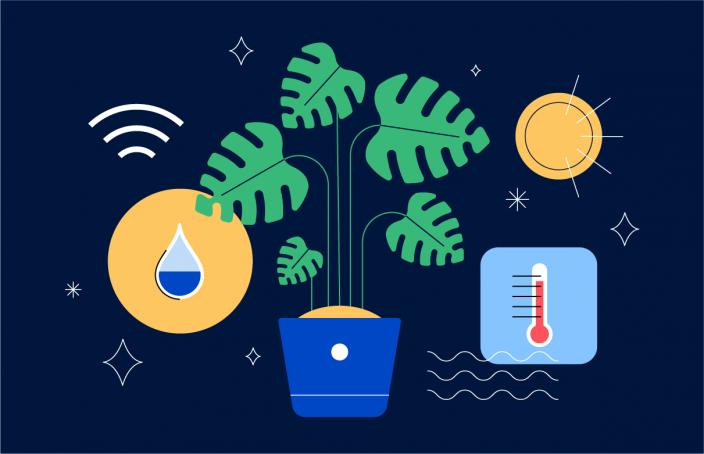 IoT-enabled plant pot