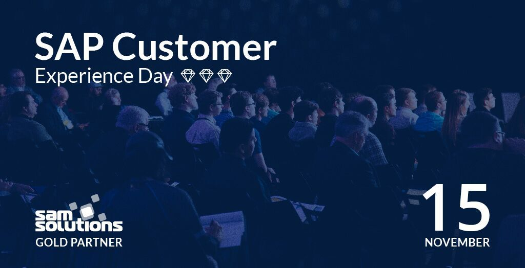 SaM Solutions is the Gold Partner of SAP Customer Experience Day